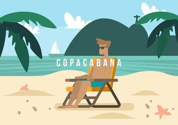 Copacabana Background - бесплатный vector #436639