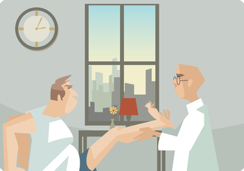 Physiotherapist Giving A Leg Massage Vector - Kostenloses vector #436689