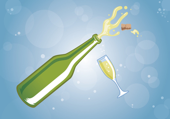 Champagne Celebration Vector - Free vector #436719
