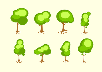 Bright Tree With Roots Free Vector - Kostenloses vector #436729