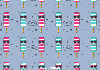 Cool Ice Cream Vector Pattern - vector #436749 gratis