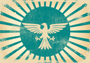 Retro Grunge Eagle Background - Free vector #436769