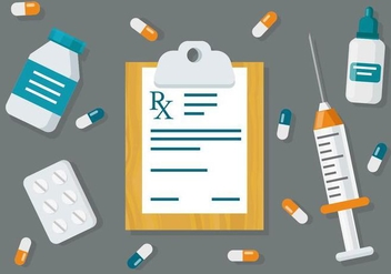 Free Medical Prescription Pad Vector Background - Free vector #436779
