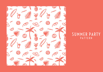 Summer Party Pattern Free Vector - бесплатный vector #436809