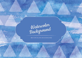 Vector Dark Blue Watercolor Background - Free vector #436819
