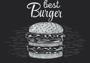 Free Hand Drawn Vector Burger Illustration - Free vector #436839