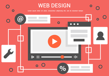 Free Vector Web Design Illustration - бесплатный vector #436849