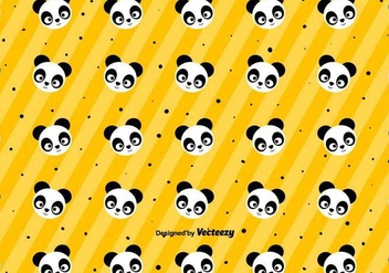 Cute Panda Pattern - Vector - бесплатный vector #436889