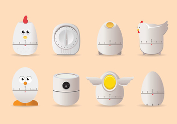 Chicken Egg Timer Vector - vector gratuit #436949
