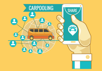 Carpooling Concept Vector - Free vector #437009