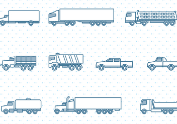 Trucks Icons Set - Kostenloses vector #437039