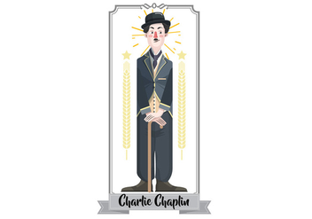 Charlie Chaplin Vector Illustration - vector #437079 gratis