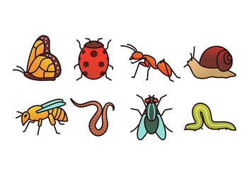 Insect Vector Pack - бесплатный vector #437089
