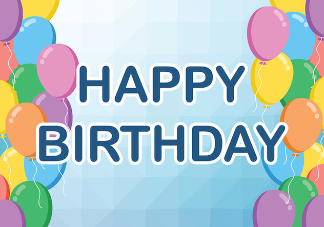 Happy Anniversaire Background Vector - Free vector #437149