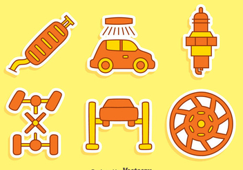 Nice Car Element Vectors - Free vector #437289