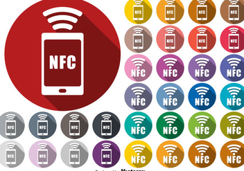 Vector NFC Connection Symbol Buttons Set - vector gratuit #437349