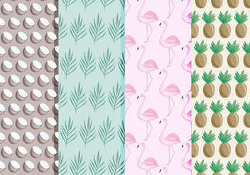 Vector Tropical Pattern Set - vector gratuit #437399