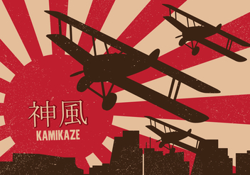 Kamikaze Poster - Free vector #437439
