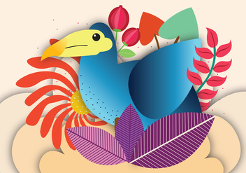 Dodo Bird Vector Art - бесплатный vector #437449