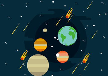 Solar System Illustration - vector #437459 gratis