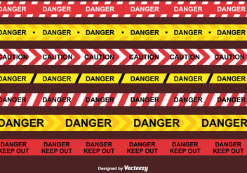 Danger Tape Vector - vector #437509 gratis