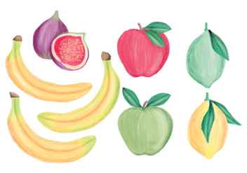Vector Hand Drawn Fruits Collection - Free vector #437519