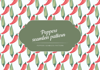 Vector Hand Drawn Peppers Pattern - Kostenloses vector #437529