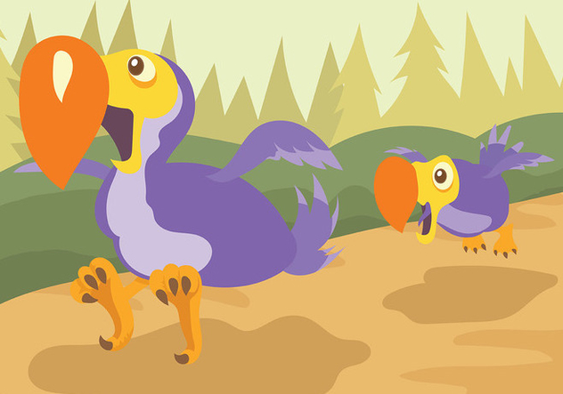 Dodo Vector Background - Free vector #437619