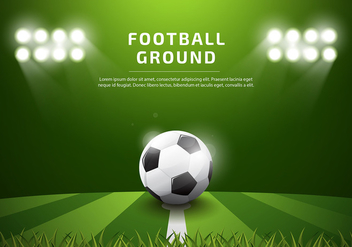 Footbal Ground Template Realistic Free Vector - vector gratuit #437659