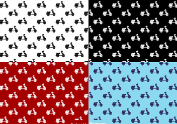Scooter Flat Icons Seamless Pattern - Vector - Free vector #437689