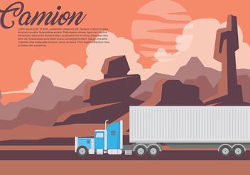 Camion Vector Background - Kostenloses vector #437699
