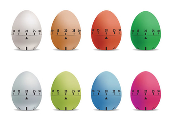 Egg Timer Vector Set - бесплатный vector #437729