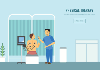 Free Physiotherapist With Patient Illustration - бесплатный vector #437779