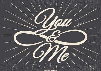 You and Me Typographic Illustration - Free vector #437799