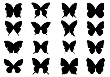 Black Silhouette Butterfly - Free vector #437829