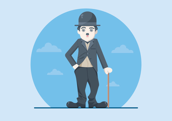 Charlie Chaplin Illustration - Free vector #437839