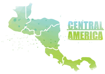 Central America Map - Kostenloses vector #437859
