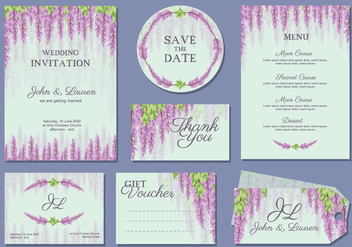 Wisteria Wedding Template Vector - бесплатный vector #437929