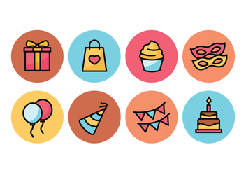 Party Icon Pack - vector #437959 gratis