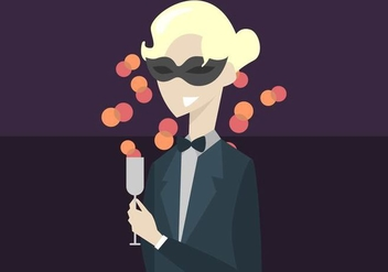 Partier at the Masquerade Ball Background - Free vector #437999
