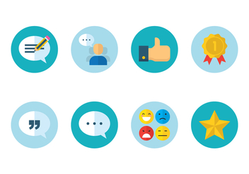 Customer Review Icon - vector #438019 gratis