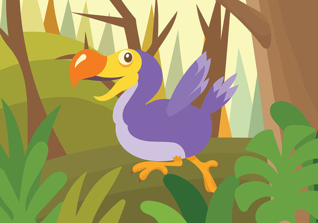 Dodo Vector Background - Free vector #438049