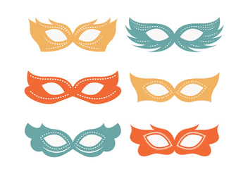 Funky Masquerade Mask Collection - vector #438159 gratis