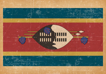 Grunge Flag of Swaziland - vector gratuit #438169