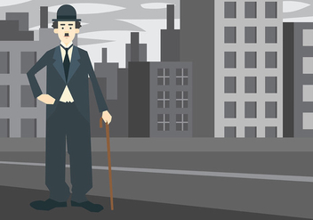 Charlie Chaplin Vector Background - vector #438189 gratis