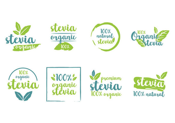 Stevia Product Tags Vector - бесплатный vector #438209