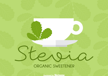 Organic Sweetener Stevia Leaves Cup Vector - бесплатный vector #438219