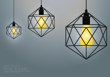 Prism Lamp and Background Template - vector gratuit #438279