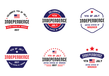 4th July Badges - vector #438389 gratis