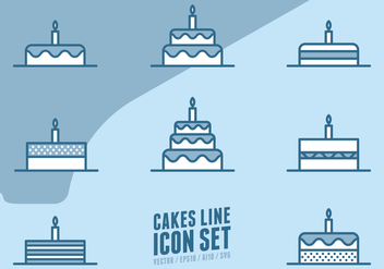 Cakes Line Icons - Kostenloses vector #438399